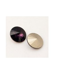 Strasssteine Glas Chatons 6mm purple