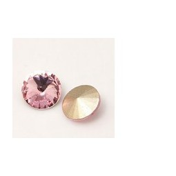 Strasssteine Glas Chatons 6mm light rose