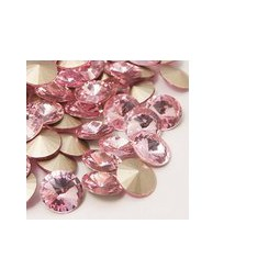 Strasssteine Glas Chatons 8mm light rose