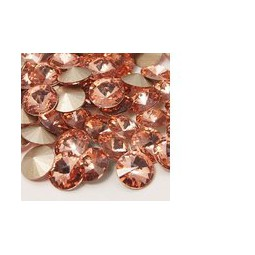 Strasssteine Glas Chatons 8mm light peach