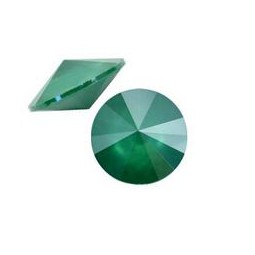 Swarovski 1122 Rivoli Chaton 12mm crystal royal green