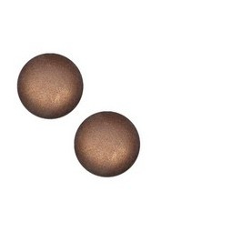 Cabochon Polaris Soft Tone 20mm dark brown matt