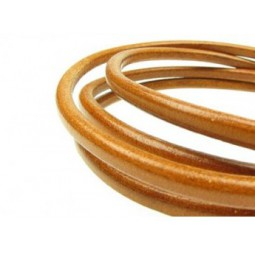 Lederband 2mm lightbrown High Quality