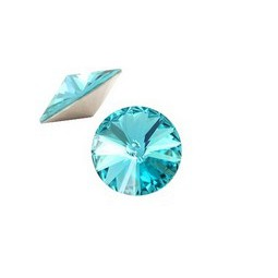 Swarovski 1122 Rivoli Chaton 12mm light turquoise