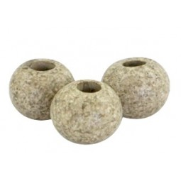 Keramikperlen 8mm stonewashed greenish beige