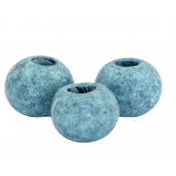 Keramikperlen 8mm stonewashed haze blue