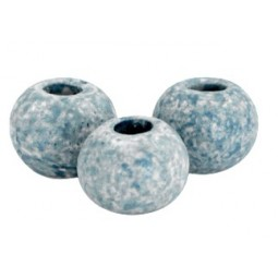 Keramikperlen 8mm stonewashed light blue