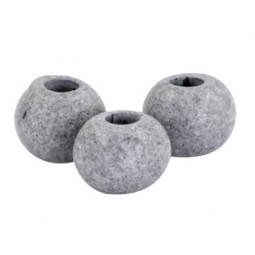 Keramikperlen 8mm stonewashed light cool grey