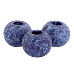Keramikperlen 8mm stonewashed indigo blue