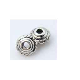 Metallperle Bicone 5x3mm antiksilber