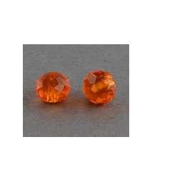 Facettierte Glasperlen 10x7mm orange