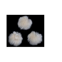 Pompon synthetisch 70mm offwhite