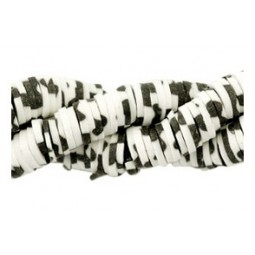 Katsuki Perlen 4mm animal print black-offwhite