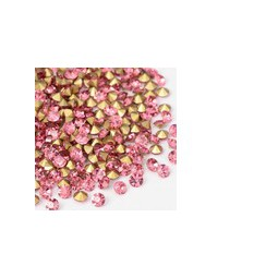 Strasssteine Glas Chatons 3-3,2mm rose