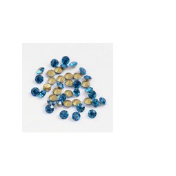 Strasssteine Glas Chatons 1,9-2,0mm blue zircon
