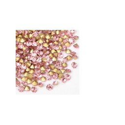 Strasssteine Glas Chatons 1,9-2,0mm light rose