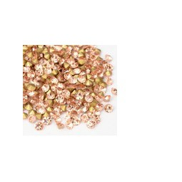 Strasssteine Glas Chatons SS8 2,3-2,4mm light peach