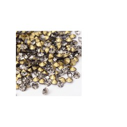 Strasssteine Glas Chatons 3-3,2mm black diamond