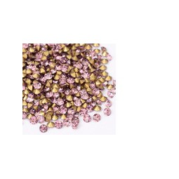 Strasssteine Glas Chatons 3-3,2mm light amethyst