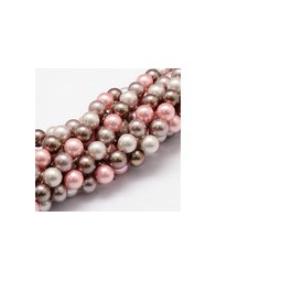 Muschelkernperlen 8mm multicolor rose