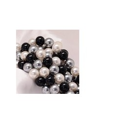 Muschelkernperlen 6mm multicolor black-white