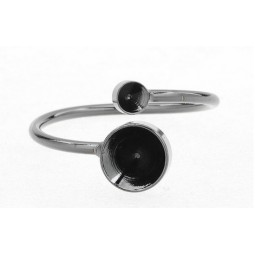Ring Rohling für Chatons 4/8mm schwarz