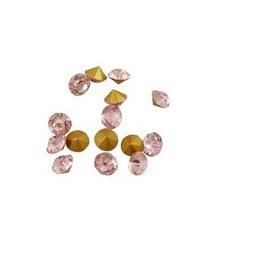 Strassteine Glas Chatons SS7 2,2mm light rose